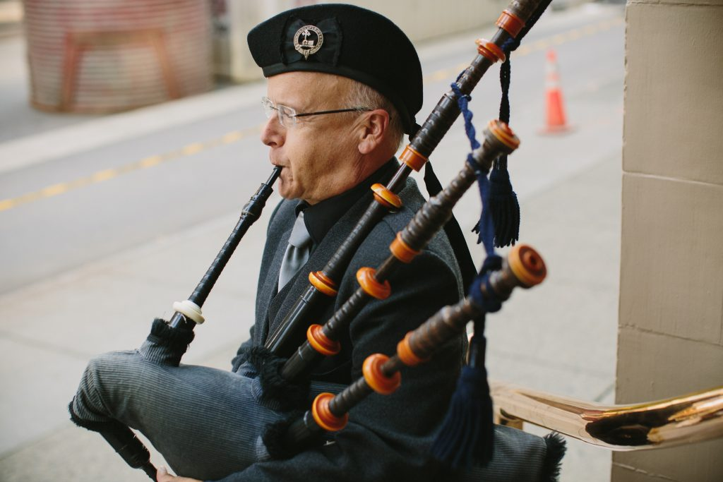 Bagpiper in Vancouver for weddings and events